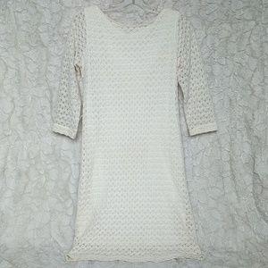 Knit Off White Dress